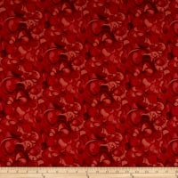Clothworks Poppy Poetry Tonal Tomato