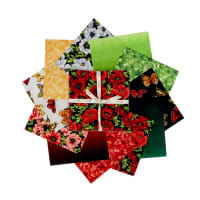 "Clothworks Poppy Poetry 10"" Squares, 42 pcs."