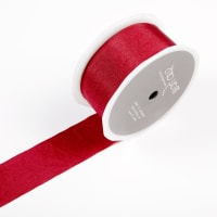 "1.5"" Faux Silk Wrinkled Ribbon Burgundy (Roll, 50 yards)"