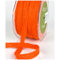 "1/2"" Woven Burlap Braid Ribbon, Orange (roll,54 yards)"