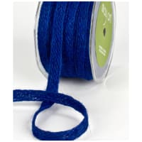"1/2"" Woven Burlap Braid Ribbon, Royal Blue (roll,54 yards)"