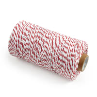 12 Ply Baker's Twine Red/White (109 Yard Spool)
