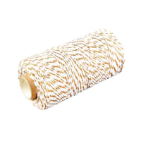 12 Ply Baker's Twine Gold/White (109 Yard Spool)