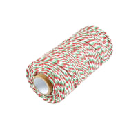 12 Ply Baker's Twine Red/Green/White (109 Yard Spool)