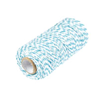 12 Ply Baker's Twine Turquoise/White (109 Yard Spool)