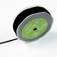 "1/8"" Faux Suede String, Black (roll,50Meters)"