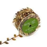 Classic Leaves Ribbon, Gold (Roll, 30 yards)