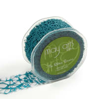 """2"""" Woven Web Ribbon, Teal (Roll, 20 yards)"""