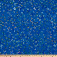 Anthology Batiks Celebration Happy Daisy Blue