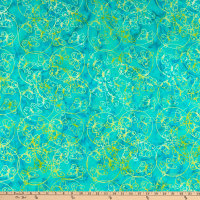 Anthology Batiks Summer Picnic Butterfly Dance Turquoise