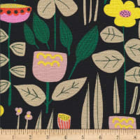 Cloud9 Fabrics Organic Wild Maru Barkcloth Black/Multi