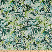 Cloud9 Fabrics Organic Field & Sky Lush Mimosa Cotton Sateen Green/White