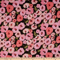 Cloud 9 Organic Lush Batiste Pink Poppies Black/Pink