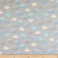 Windham Fabrics Bounce Clouds Grey