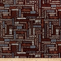 Whistler Studios Dark Roast Coffee Words Espresso