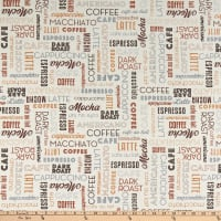 Whistler Studios Dark Roast Coffee Words Cream