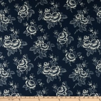 Abigail Blue Large Floral Navy
