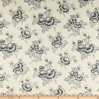 Abigail Blue Large Floral Cream
