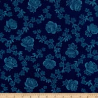 Abigail Blue Trellis Rose Navy Blue