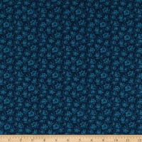 Abigail Blue Packed Floral Navy Blue