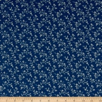 Abigail Blue Trailing Vines Navy