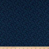Abigail Blue Trailing Vines Navy Blue
