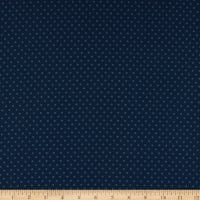 Abigail Blue Circle Dot Navy Blue