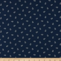 Abigail Blue Flower Sprigs Navy