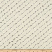 Abigail Blue Diagonal Stripe Cream