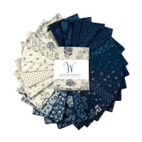 Abigail Blue Fat Quarter Bundle 24 Pcs Multi