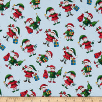 Windham Fabrics Holly Jolly Christmas Elves Ice