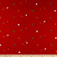 Windham Fabrics Holly Jolly Christmas Words Red