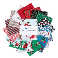 "Windham Fabrics Holly Jolly Christmas 18"" Fat Quarter Bundle Multi"