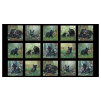 "Tender Moments Mother Bear 24"" Panel Black"
