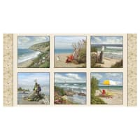 "Coastal Dreams 24"" Coastal Panel Sand"