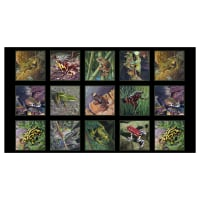 "Amazing Frogs 24"" Frog Panel Black"