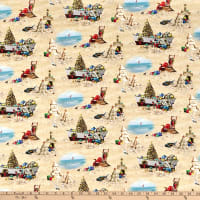 Elizabeth's Studio Sandy Clause Christmas Beach Scenic Sand