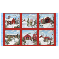 "Tis the Season 24"" Winter Panel Red"