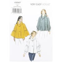 Vogue V9347 Very Easy Misses' Top ZZ (LRG-XLG-XXL)