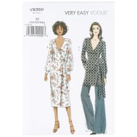 Vogue V9350 Very Easy Misses' Top, Dress & Pants ZZ (LRG-XLG-XXL)