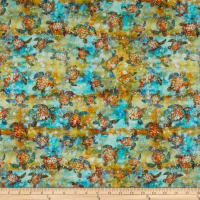 QT Fabrics Evolution Oceana Sea Turtles Multi