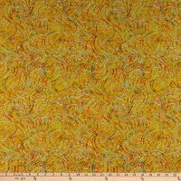 QT Fabrics Evolution Radiance Ribbons Yellow