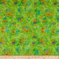 QT Fabrics Evolution Radiance Splatter Lime