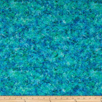 QT Fabrics Evolution Radiance Scroll Blue
