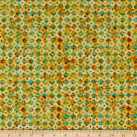 QT Fabrics Evolution Rhythm Diamonds Honey
