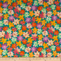 QT Fabrics  Callie Packed Floral Abstract Teal