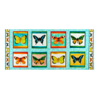 "QT Fabrics  Fly Free Butterfly Picture Patches 36"" Panel Multi"