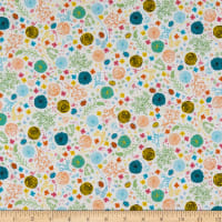 QT Fabrics  Fly Free Floral White