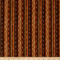 QT Fabrics In The Wilderness Stripe Brown