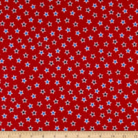 QT Fabrics Red White & Blue Star Toss Red
